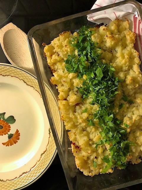 Färs i ugn med potatistäcke