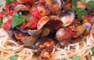 Spaghetti med hjärtmusslor