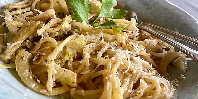 Spaghetti med fänkål